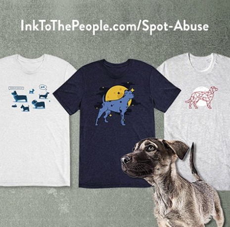 Spot abuse ink to the people t shirts help support our for Ink spot t shirts